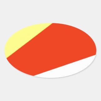 Bandeira de Seychelles Adesivos Ovais