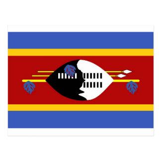 Bandeira de Suazilândia Cartão Postal