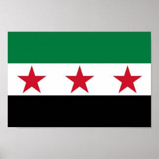 Bandeira de Syria Posters