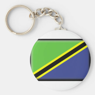 Bandeira de Tanzânia Chaveiro