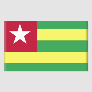 Bandeira de Togo Adesivo Em Formato Retângular