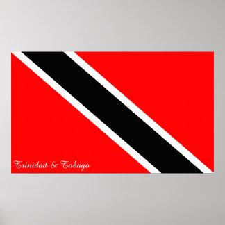 Bandeira de Trinidad and Tobago Pôster