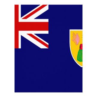 Bandeira de Turks and Caicos Islands Papel Timbrado