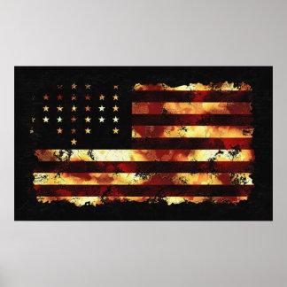 Bandeira de união, guerra civil, bandeira dos Esta Poster