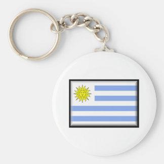 Bandeira de Uruguai Chaveiro