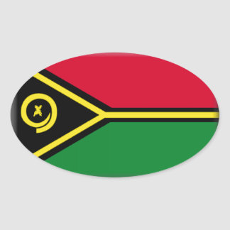 Bandeira de Vanuatu Adesivo Oval