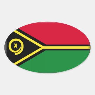 Bandeira de Vanuatu Adesivos Ovais