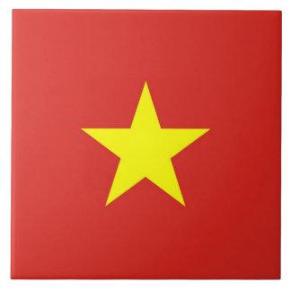 Bandeira de Vietnam no azulejo