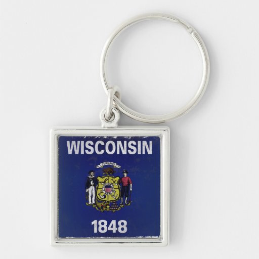 Bandeira de Wisconsin Chaveiros