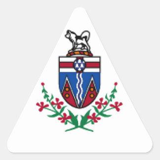 Bandeira de Yukon (Canadá) Adesivo Triangular