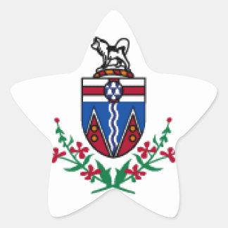 Bandeira de Yukon (Canadá) Adesivos Estrelas