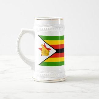 Bandeira de Zimbabwe África Caneca De Cerveja