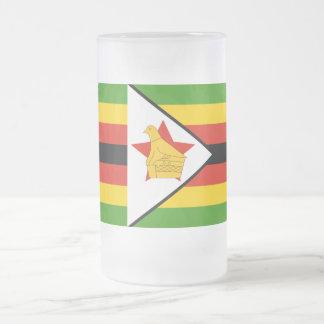Bandeira de Zimbabwe África Caneca De Cerveja Vidro Jateado