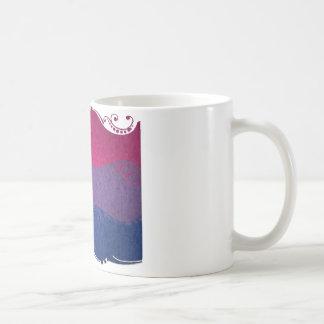 Bandeira decorativa bissexual caneca de café