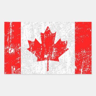 Bandeira desvanecida de Canadá Adesivo Retangular