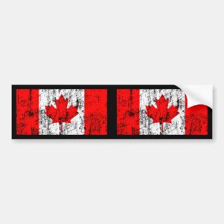 Bandeira desvanecida de Canadá Adesivos