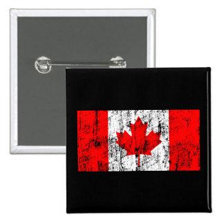 Bandeira desvanecida de Canadá Botons