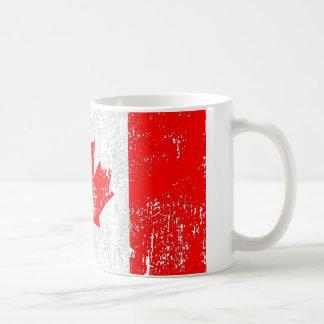 Bandeira desvanecida de Canadá Caneca