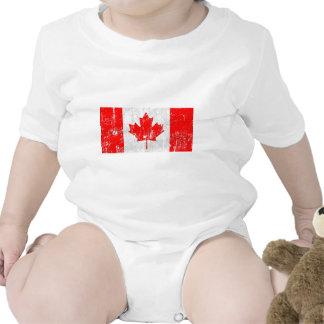 Bandeira desvanecida de Canadá Macacão