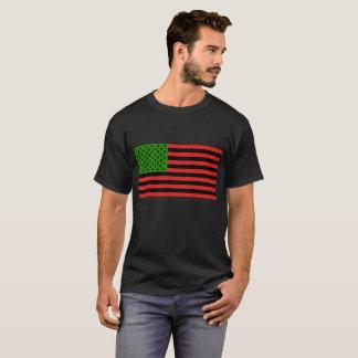Bandeira do afro-americano - preto e verde t-shirt
