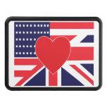 Bandeira do amor dos E.U.E do Reino Unido Coberturas Para Engate De Reboque