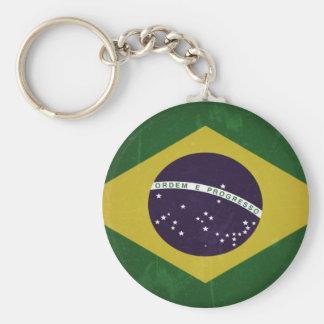 Bandeira do Brasil (grunge) Chaveiro