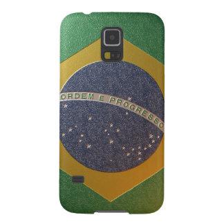 Bandeira do Brasil Metalizada Capas Par Galaxy S5