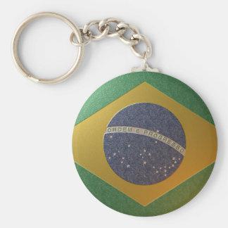 Bandeira do Brasil Metalizada Chaveiros