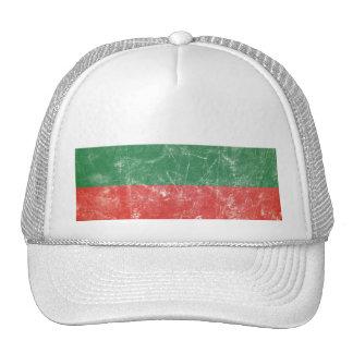 Bandeira do búlgaro do vintage boné
