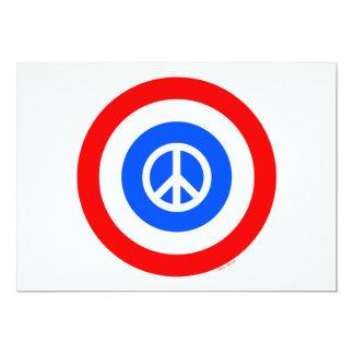 Bandeira do círculo da paz convite 12.7 x 17.78cm