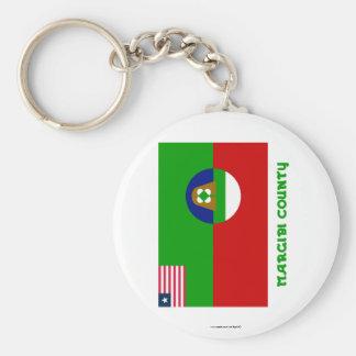 Bandeira do condado de Margibi com nome Chaveiros