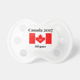 Bandeira do coração de Canadá 150 em 2017 Chupeta