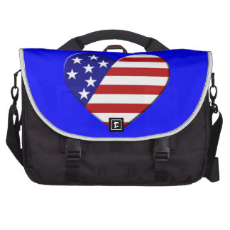 Bandeira do coração dos EUA Pastas Para Notebooks