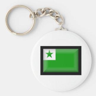 Bandeira do esperanto chaveiros