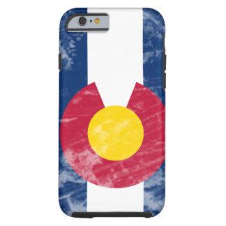 Bandeira do estado de Colorado do Grunge Capa Tough Para iPhone 6