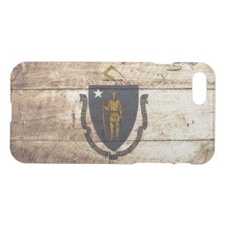 Bandeira do estado de Massachusetts na grão de Capa iPhone 7