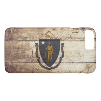 Bandeira do estado de Massachusetts na grão de Capa iPhone 8 Plus/7 Plus