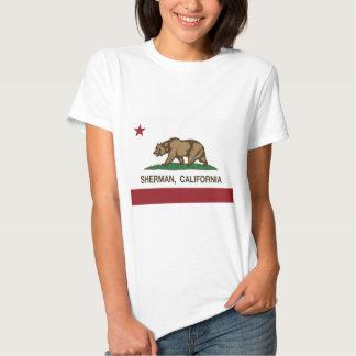bandeira do estado de sherman Califórnia Tshirts