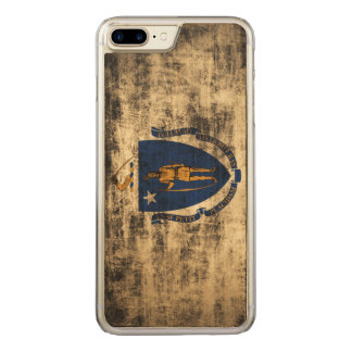 Bandeira do estado do Grunge do vintage de Capa iPhone 7 Plus Carved