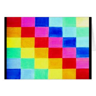 Bandeira do fundo do abstrato da cor cartão