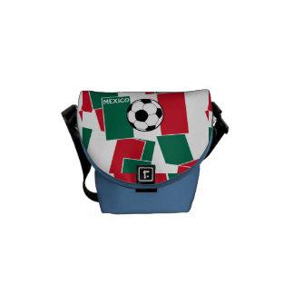 Bandeira do futebol de México Bolsa Mensageiro