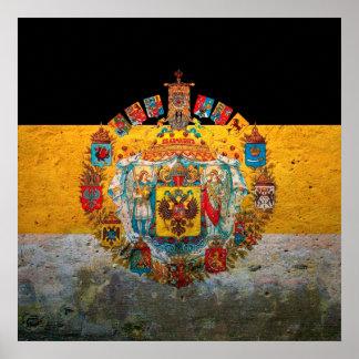 Bandeira do império de russo pôster