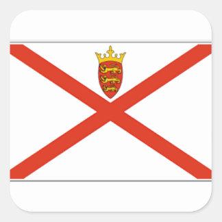 Bandeira do jérsei (Reino Unido) Adesivo Quadrado