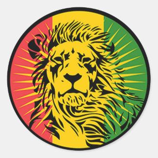 bandeira do leão da reggae do rasta adesivo