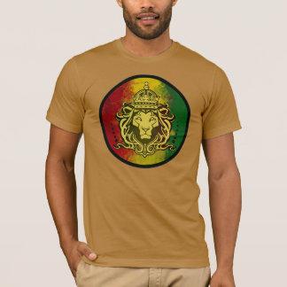 bandeira do leão da reggae do rasta camiseta