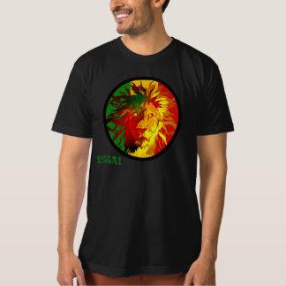 bandeira do leão da reggae do rasta camisetas