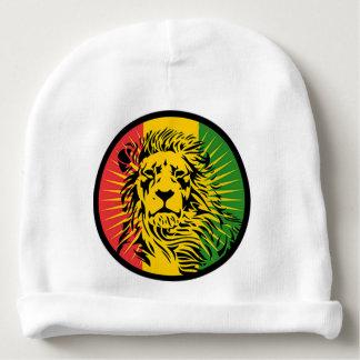 bandeira do leão da reggae do rasta gorro para bebê