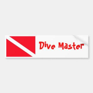 Bandeira do mergulho adesivos