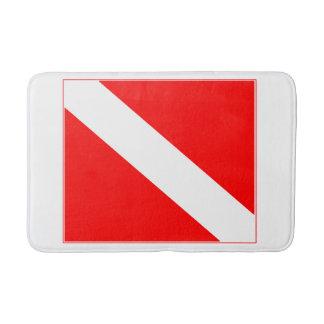 Bandeira do mergulho tapete de banheiro