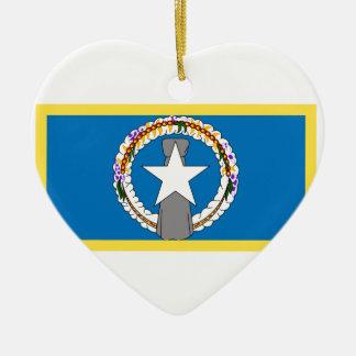 Bandeira do norte dos Marianas Ornamento De Cerâmica
